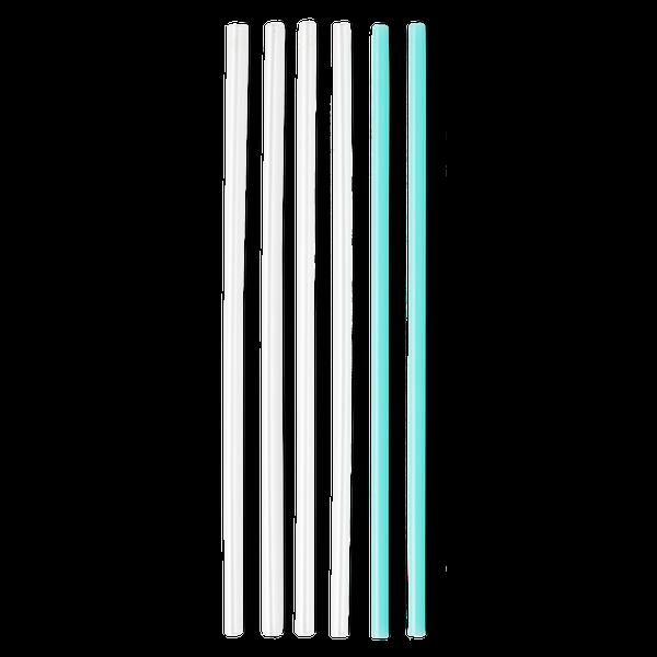 Clear & Aqua Tall Straw Set
