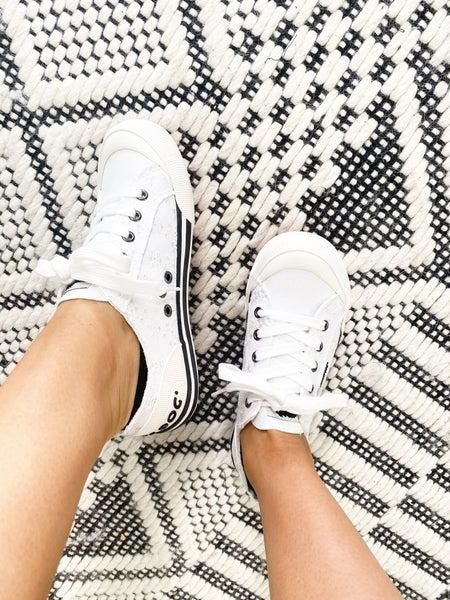 Jazzin White Eyelet Sneaker by Rocket Dog