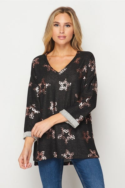 2X ONLY - HoneyMe Sparkle Star Top
