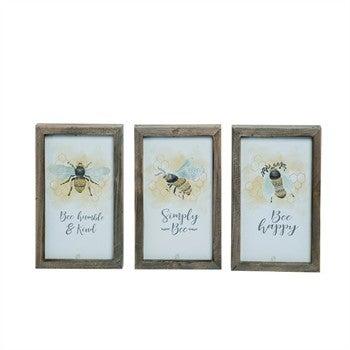 MDF Framed Bee Decor in 3 designs