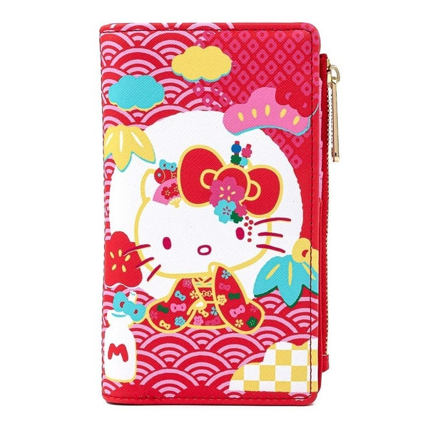 !LOUNGEFLY X SANRIO 60TH ANNIVERSARY HELLO KITTY FLAP WALLET