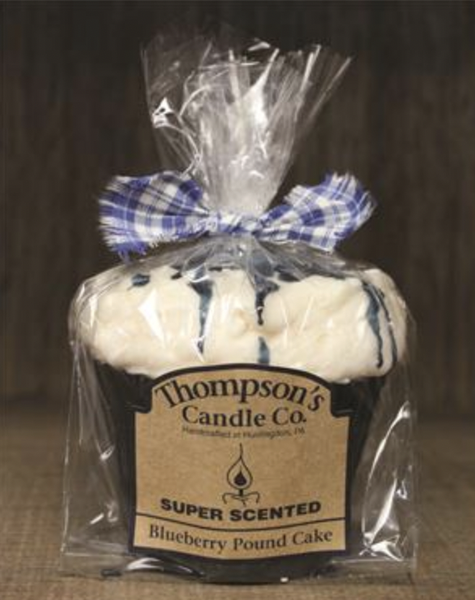 Blueberry Pound Cake Muffin Candle