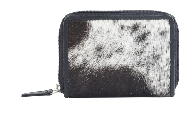 Greyscale Leather & Hairon Wallet