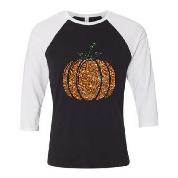 Sparkle Pumpkin | Graphic Raglan Tee