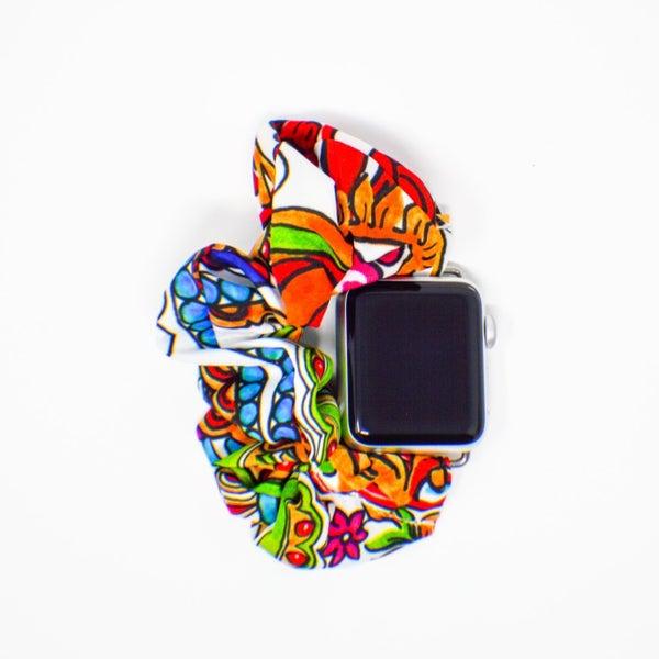 Bright Paisley Scrunchie Watchband - 38/40mm