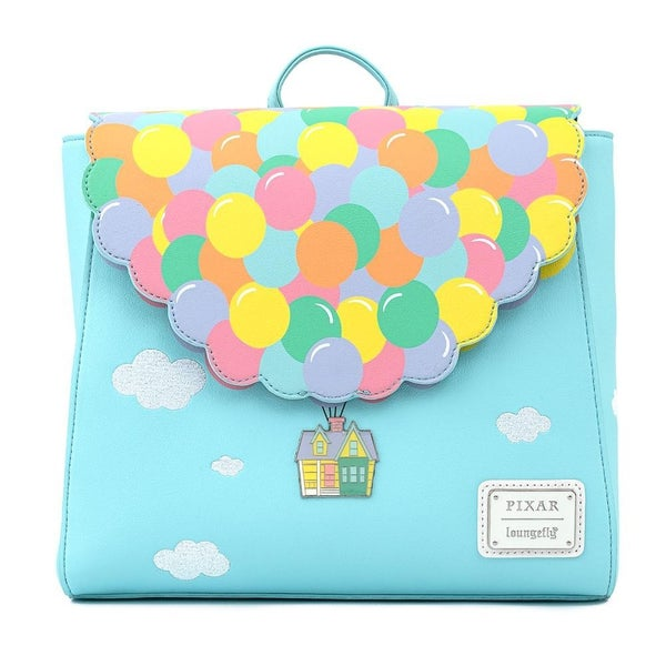 !LOUNGEFLY X PIXAR UP BALLOON HOUSE FLAP MINI BACKPACK