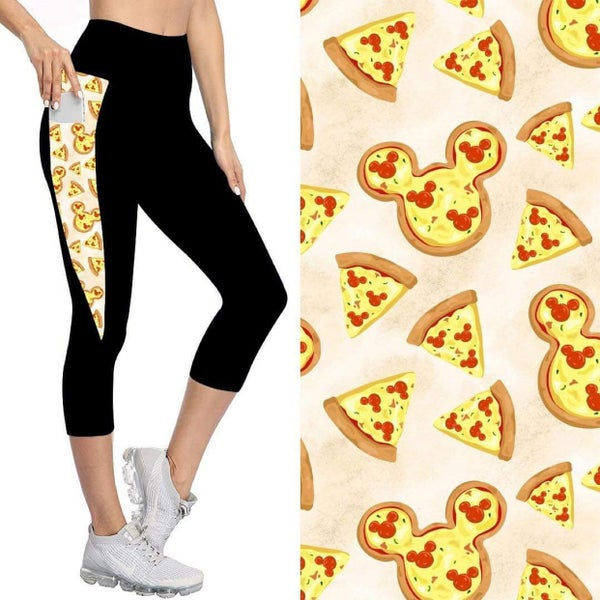 Kids' Capris with Pockets   Pizza Party