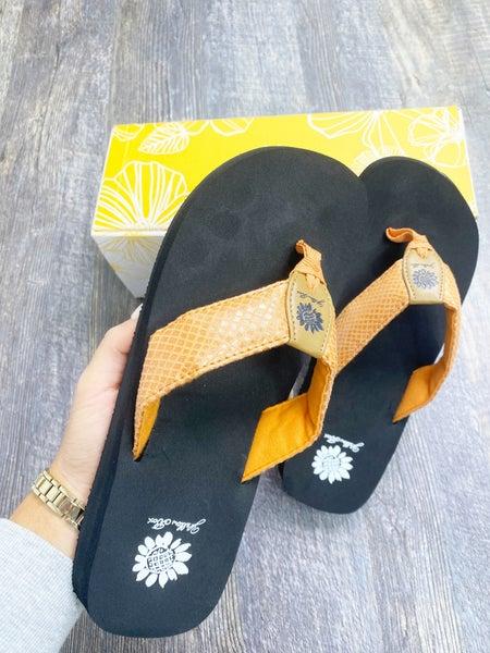 Yellow Box Faya -  Coral Flip Flop