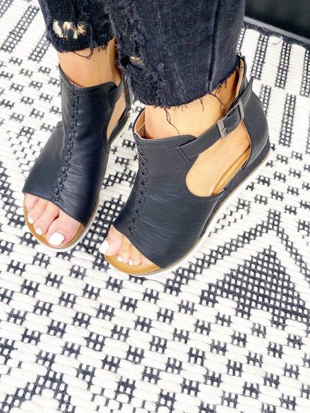 Corkys Sugar City Black Sandals