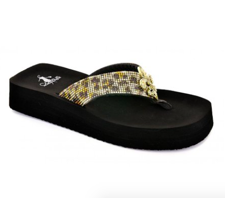 Corkys Vanessa Cheetah Flip Flops