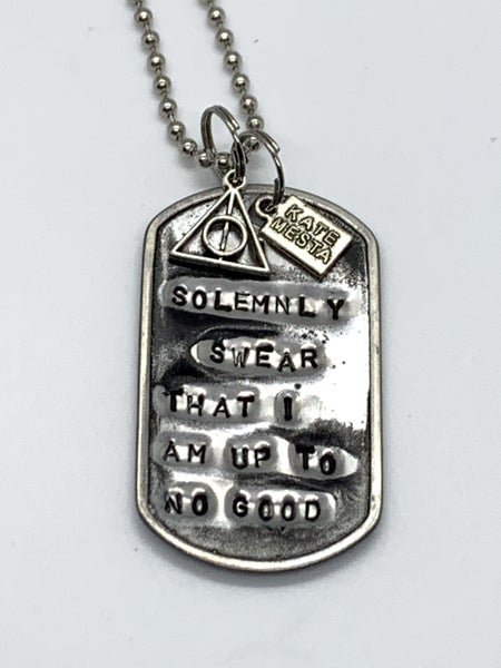 Kate Mesta I Solemnly Swear That I Am Up To No Good Necklace