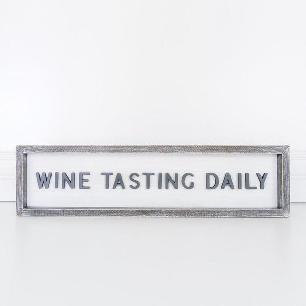 LAST ONE - Wine Tasting Daily Framed Sign