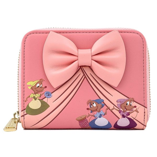 !LOUNGEFLY X DISNEY CINDERELLA 70TH ANNIVERSARY BOW ZIP AROUND WALLET