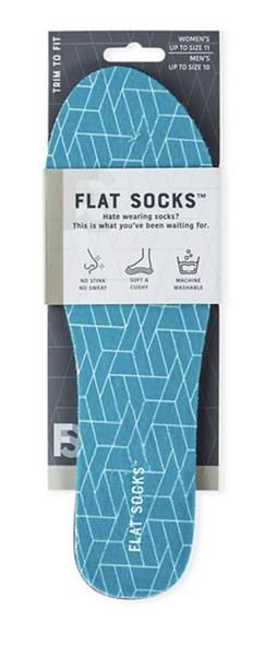 Womens Terry Flat Sock Aqua