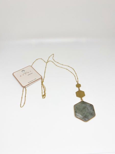 Avant Multi-Hexagon Crystal Necklace