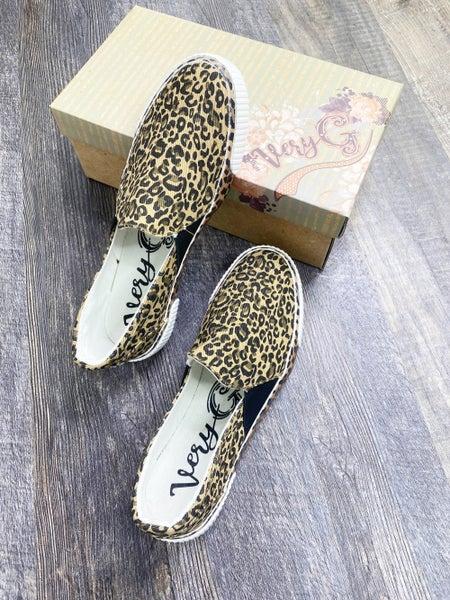 Very G Tan Leopard Slip On Sneaker