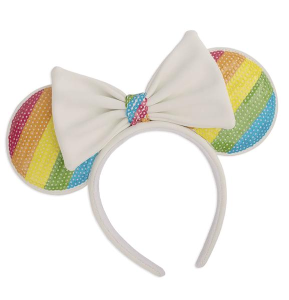 Disney Sequin Rainbow Minnie Ears Headband