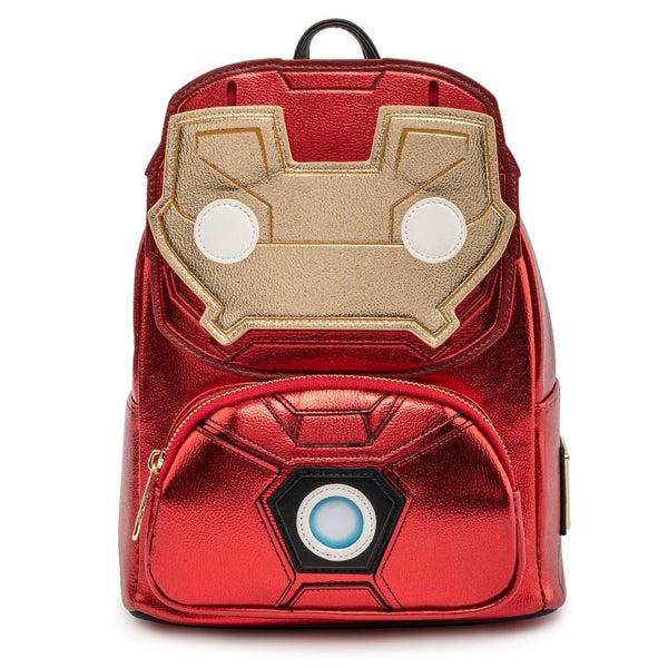 LOUNGEFLY X FUNKO POP! BY LOUNGEFLY MARVEL IRON MAN LIGHT UP MINI BACKPACK