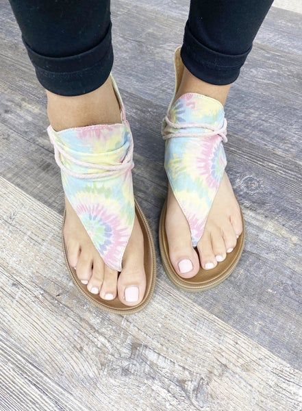 SIZE 7 & 7.5 ONLY Very G Pastel Dusk Sandals