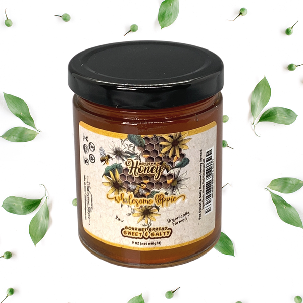 Wholesome Hippie Raw Whipped Honey 9oz
