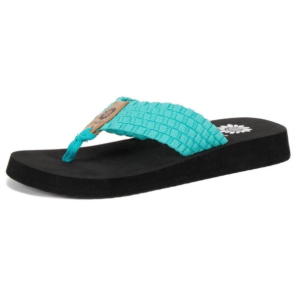 Yellow Box Soleil Flip Flops TURQUOISE ONLY SIZE 11