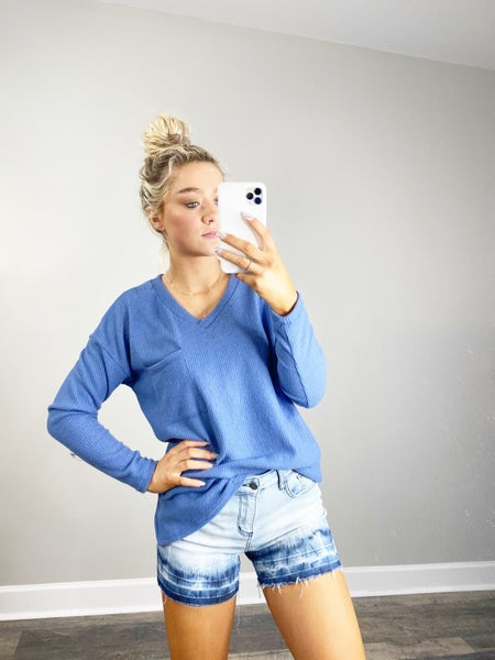 HoneyMe Denim Top
