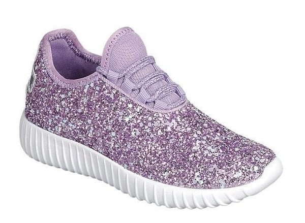 GLITTER PURPLE KIDS SNEAKER