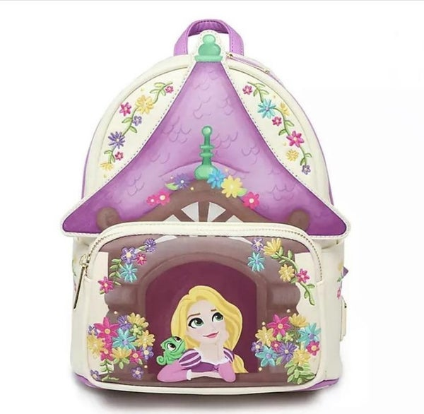 LOUNGEFLY  X Disney Tangled Tower Scene Mini  Backpack