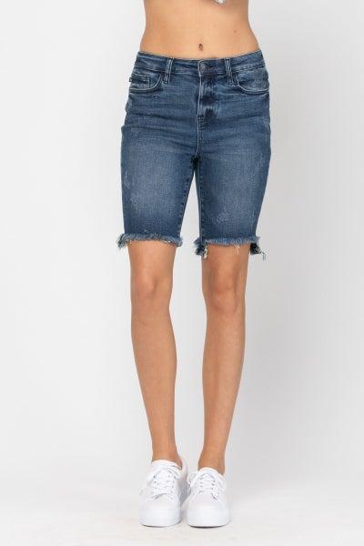 Judy Blue High Rise Cut Off Bermuda Shorts