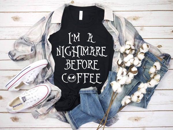 Nightmare Before Coffee Tee