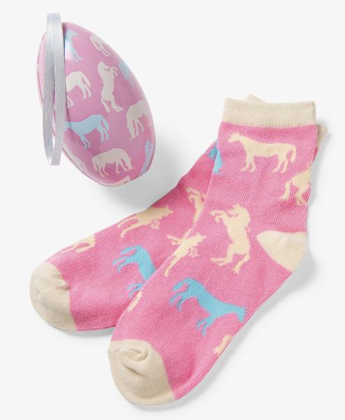 Horse Silhouettes Kids Socks
