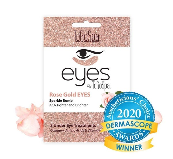 Under Eye Collagen Gel Pads - Rose Gold Eyes