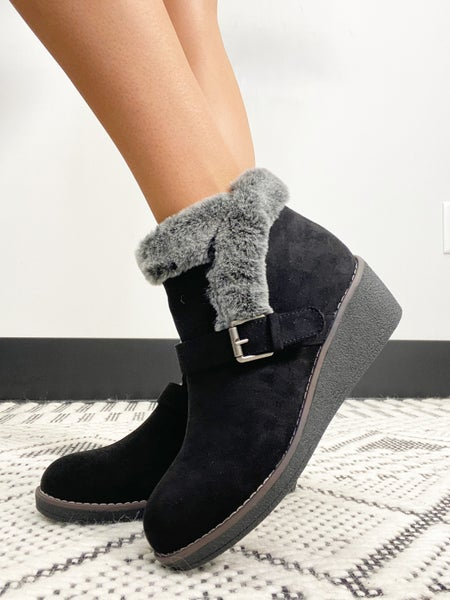 """Corky's Black """"Chilly"""" Booties"""