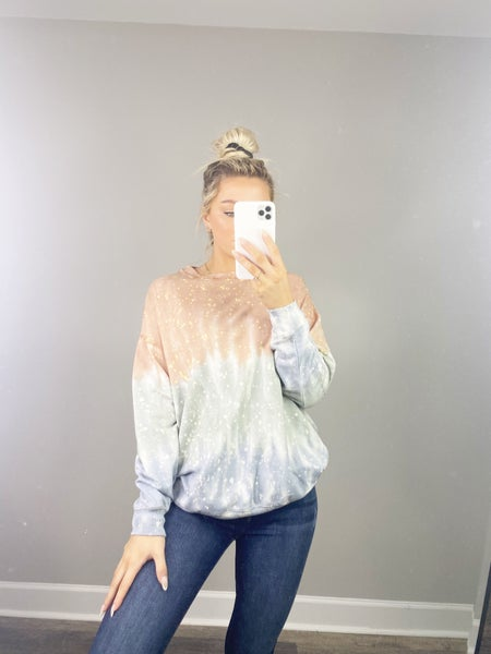 Galaxy Top - Taupe/Mint/Grey