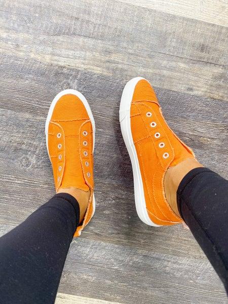 SIZE 7 ONLY Corkys Babalu Orange