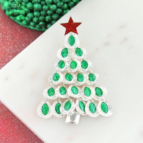Dangle Leaf Christmas Tree Pendant