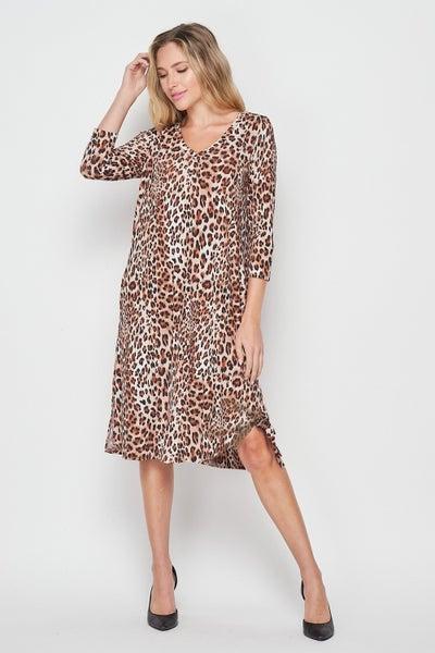 HoneyMe Leopard Midi Dress