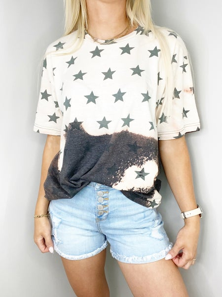 Bleached Smoke Star Graphic Tee
