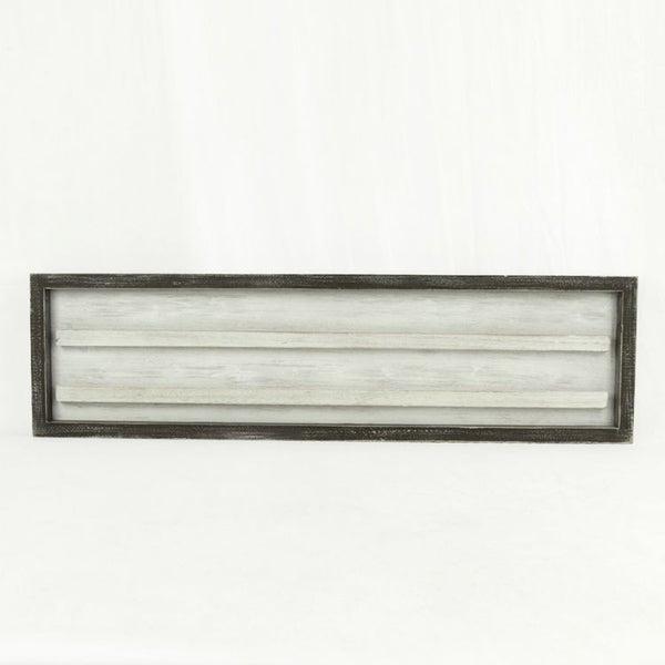 30x8 Wood Framed White Letterboard