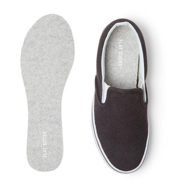 Womens Micro Wool Flat Sock Lt Heather