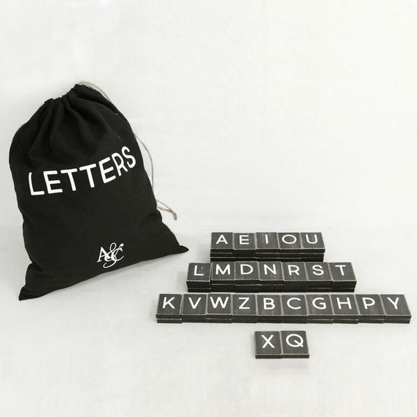 70 Piece Letters - Black