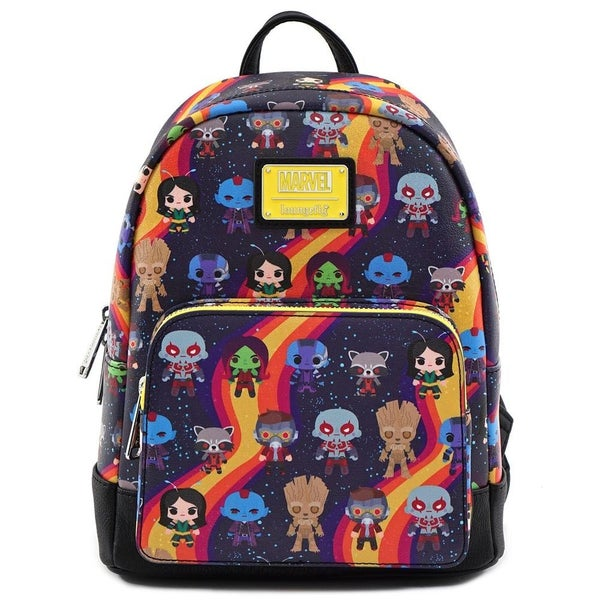 LOUNGEFLY X MARVEL GUARDIANS OF THE GALAXY CHIBI LINE-UP MINI BACKPACK