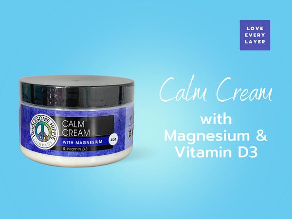 WH Calm Cream with Magnesium & Vitamin D3 4oz
