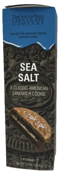 Sea Salt Chocolate Covered Chocolate Cookies