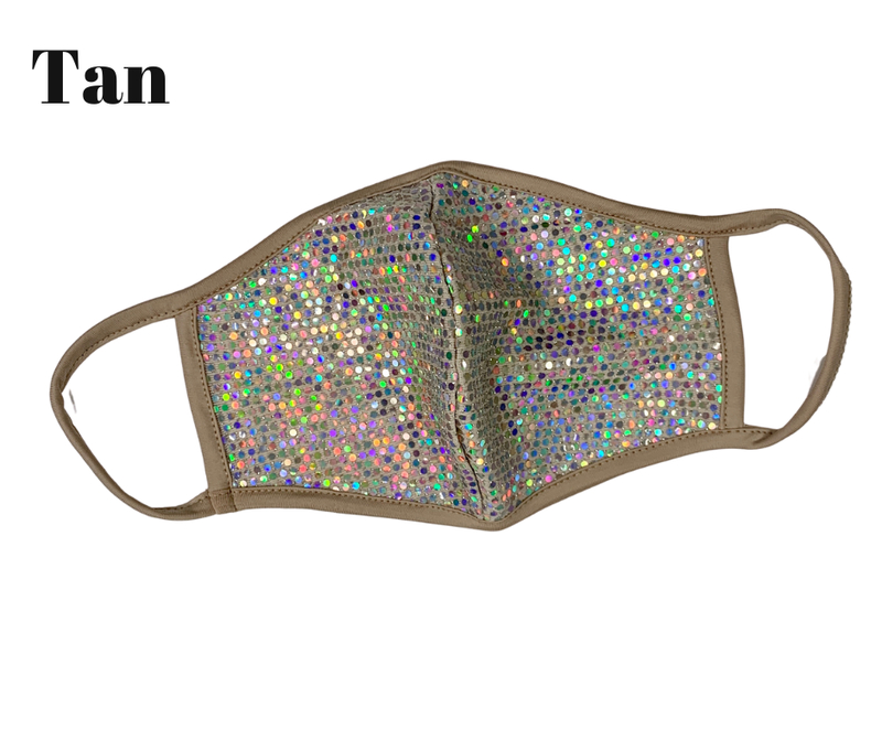 Glittery Face M-a-s-k - Non Medical ***Multiple Colors