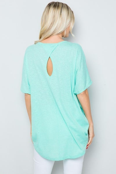 SMALL ONLY Back Key Hole Dolman in Mint