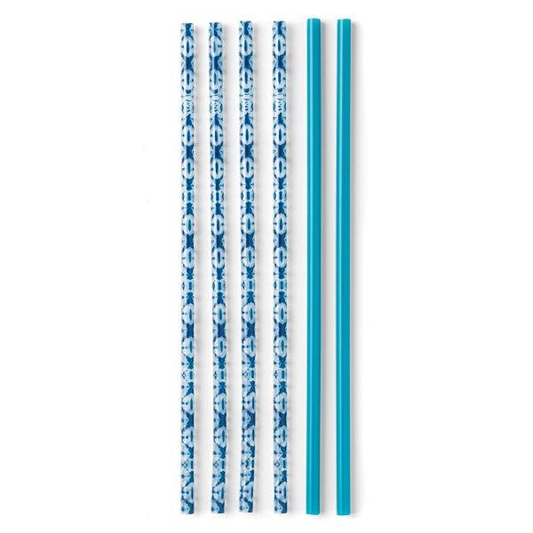 Indigo Isles & Blue Tall Straw Set