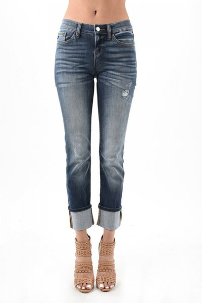 Judy Blue Cuffed Dark Denim