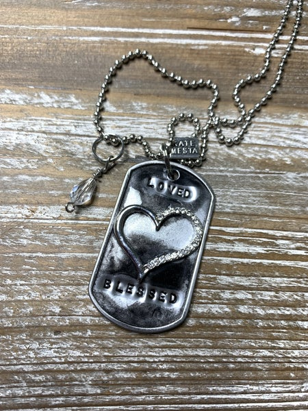 Kate Mesta Black & Silver Collection Loved Blessed Heart