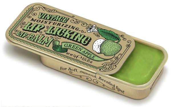 Vintage Lip Balm   Lip Licking Balm • GREEN APPLE